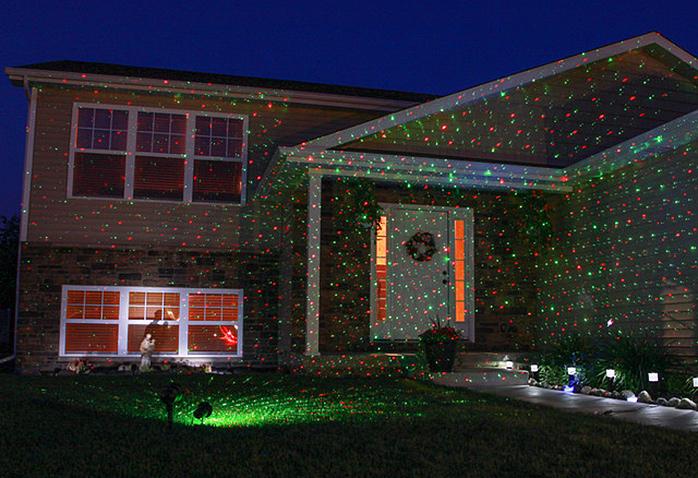 Eclairage facade maison noel